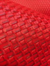 Red Basket Weave Heavy Duty Vinyl Upholstery Car Vinyl Fabric Sold By The Yard