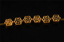 70pcs Gold Metal Beads Loose Spacers Crafts DIY Jewelry Making 5mm Charms