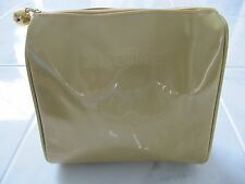RARE VINTAGE LANCOME MAKEUP COSMETIC BAG GOLD SHINY EMBOSSED BRAND NEW EXC COND