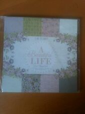"""PAPER PAD 'A BEAUTIFUL LIFE' ~24 SHEETS ~ 6"""" X 6""""   8 ASSORTED DESIGNS"""