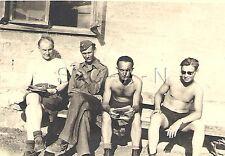 WWII German Large RP- Luftwaffe Soldier- Semi Nude- Gay Interest- Taking A Break