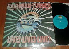 """BTO Orig 1986 """"Live Live Live"""" LP w You Ain't Seen Nothing Yet  SHRINK NM-"""