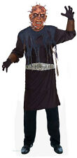 MENS ZOMBIE HELL COSTUME & LATEX MASK SCARY FANCY DRESS HALLOWEEN OUTFIT NEW