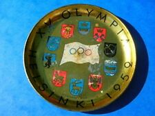1952 OLYMPIC GAMES HELSINKI FINLAND Small metal dish - Coaster