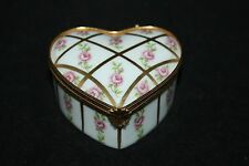 Dubarry Limoges Porcelain - Heart Shaped Box - Roses - vgc