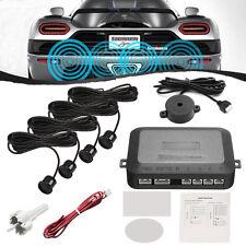 4 Parking Sensors Professional Car Reverse Backup Radar System Kit Sound Alert