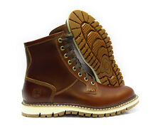 [TB0A1842] TIMBERLAND BRITTON HILL PLAIN TOE BROWN BOOTS MENS SIZE 11.5