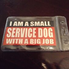 Service Dog ID Card Badge for SMALL Dogs ADA  1 card + 1 holder