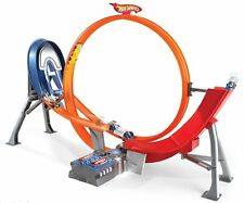 HOT WHEELS POWER-SHIFT CANALETTA motorizzato Loop Jump 5 Auto Set Pista Strada NUOVO