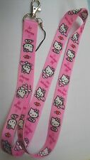 Pink Love Hello Kitty Hand Cell Phone Strap ID Buckle Clip Belt Neck Lanyard