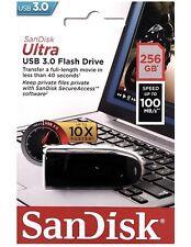 SanDisk 256GB 256G USB CZ48 Cruzer Ultra USB 3.0 100MB/s SDCZ48-256G Retail