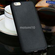 Man's Ultrathin TPU Leather Grain Soft Back Case Cover For iPhone 5 6 6s Plus CA