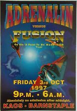 Adrenalin Vs Fusion @ Kaos Club, Barnstaple, 03/10/97 Rave Flyers