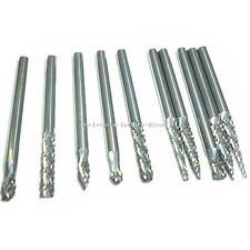 "10pcs 3mm (1/8"") Tungsten Carbide Rotary Burrs Bits Set For Dremel Rotary Tools"