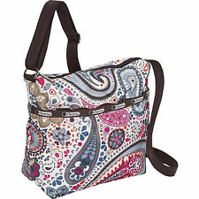 LeSportsac ANDEAN PAISLEY Cleo CrossBody Shoulder Hobo Bag W/ Olivia Coin Purse