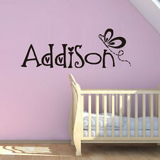 Butterfly Personalized Name Girl Name Wall Decal Bedroom Decorative Wall Decal