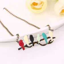 Lovely Bird on Branch Necklace Women Sweater Chain Pendant Necklace Hot