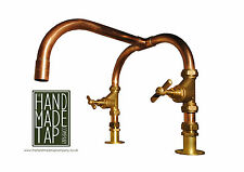 Handmade Copper Pipe Kitchen Basin Bath Mixer Tap Industrial Handcrafted Bespoke