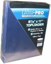 """Ultra pro 8 1/2"""" x 11"""" top loaders pack of 5 new toploaders"""
