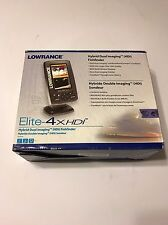 Lowrance Elite-4x HDI 83/200 Fish Finder. Free Shipping.!!