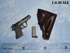 3R 1/6 Scale WWII German General Gille Walther PPK Pistol + Holster GM622