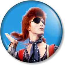 DAVID BOWIE 25mm Pin Button Badge ZIGGY STARDUST HUNKY DORY EYE PATCH HAIR FLICK