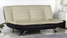 Schlafsofa TURIN schwarz & beige Schlafcouch Sofa ausklappbar Schlaf Sofabett