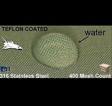 "PTFE Wire mesh filter 316 Stainless 400 sq per inch 8"" x 8"" filter  teflon"