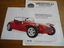 WESTFIELD SPORTS CARS LTD.SE & SEi SALES BROCHURE + 6 INFORMATION/PRICES SHEETS