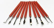 WAX CARVING TOOLS 10Pcs SET JEWELRY WAX METAL CLAY PLASTER SCULPTING DESIGNING