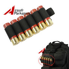 6 Round Shotgun Shell Holder 12GA 20GA Ammo Carrier Pouch Tactical Holster Black