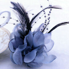 18colors 12CM Feather Calliopsis Silk Corsage Brooch Hairpin Prom Wedding Flower