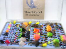 Fulling Mill Tacky Fly Box  With 168 Fly Fishing Trout Flies,Nice Xmas Gift New