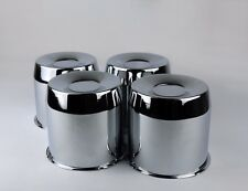 "4 Steel Wheel Rims Chrome Center Caps For 5.15 "" Center Bore"