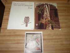 EASY Macrame PATTERN Books Pat Depke Book 1 & Pot Hangers + old stitchery catalo