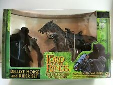 Lord of the Rings Fellowship of the Ring RINGWRAITH & HORSE Deluxe Set GreenMISB