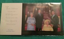 100TH Birthday Of Queen Mother Miniature Stamps Sheet 2000 Prince William