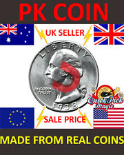 STRONG MAGNETIC US QUARTER DOLLAR MAGIC TRICK COIN / 25 CENT MAGNETIC PK COIN