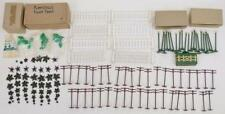 Group of Plasticville small accessories and fence with one dealer box Lot 161