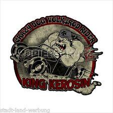 493 King Kerosin Crazy Dog Volksrod Aufkleber Sticker Oldschool Rockabilly Retro