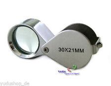LOUPE, loupe de bijoutier poche pliable 30 Compartiment Lentille Diamètre 21 mm