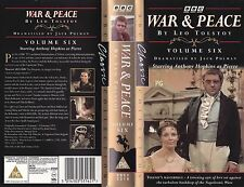 WAR AND PEACE BBC VHS PAL VOLUME 6 ANTHONY HOPKINS,RUPERT DAVIES RARE 70'S