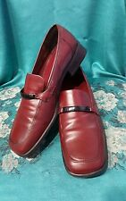 Donald J. Pliner POSITANO Burgundy Leather Shoe 8.5M. EXCELLENT. MADE IN ITALY