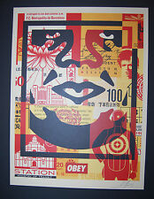 Shepard Fairey Obey Giant Bottom Face Collage Andre Icon Print Station Poster