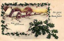 Neujahr, Winterlandschaft, Tannenzweige, 1945