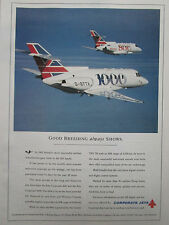 1992-1993 PUB CORPORATE JETS BRITISH AEROSPACE AVION BAe 800 1000 AIRCRAFT AD