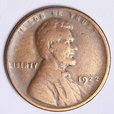 1922 NO D TYPE 3 Lincoln Wheat Cent Penny CHOICE FINE FREE SHIPPING E132 ALM