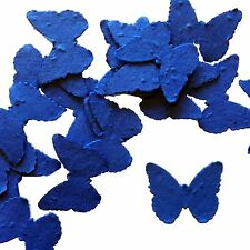 Royal Blue Butterfly Shape Plantable Wildflower Seed Recycled Paper Confetti 100
