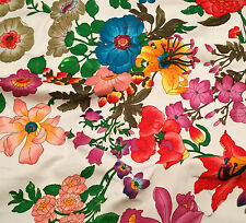 "FLOWER GARDEN Stretch Cotton Fabric 12""x10"" remnant"