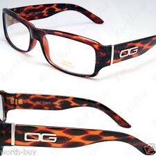 New DG Eyewear Clear Lens Frame Glasses Designer Mens Womens Tortoise Leopard RX